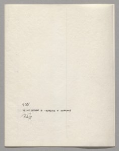 '4′33″ (In Proportional Notation)' (1952/53) by Cage. (©2013 John Cage Trust/The Museum of Modern Art)