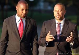 Chris Banks (left) with Congressman Hakeem Jeffries. (Photo: Facebook)