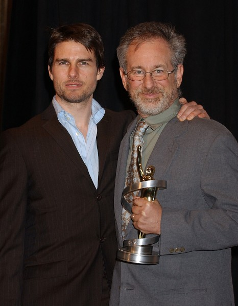 Tom Cruise, left, with Steven Spielberg. (Photo by Gregg DeGuire/WireImage)