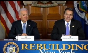 Andrew Cuomo and Joe Biden at today's event. (Screenshot: www.governor.ny.gov)