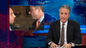 Jon Stewart speaking on last night's show. (screengrab: thedailyshow.com)