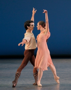 Joaquin De Luz  and Tiler Peck  in 'Dances at  a Gathering.' (Photo by Paul Kolnik)