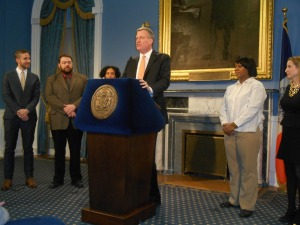 Mayor Bill de Blasio today.