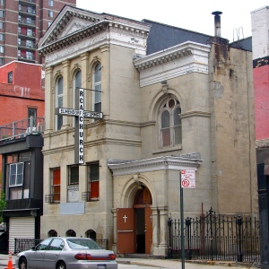 The Elmendorf Reformed Church in its present location, on 121st Street