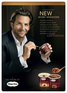 Bradley Cooper, who stars in 'American Hustle' and appears in advertisements for Häagen-Dazs®. (Courtesy Häagen-Dazs®)