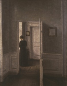 'Interior with a Woman Standing' (undated) Hammershøi. (Courtesy the Loeb Collection and Scandinavia House)