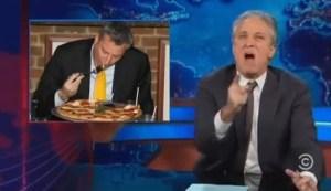 Jon Stewart reacting to Forkgate. (Photo: Screenshot)