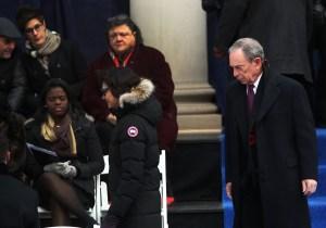 Michael Bloomberg at yesterday's inauguration. (Photo: Spencer Platt/Getty)