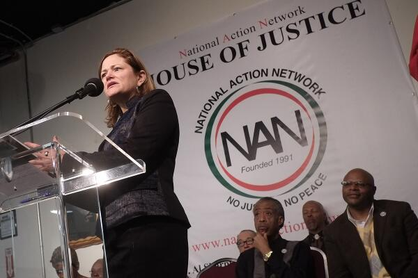 Melissa Mark-Viverito speaking at the National Action Network headquarters earlier today. (Photo: NYC Council/Will Alatriste)