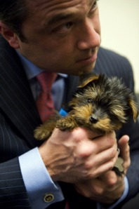 Congressman Michael Grimm and his pup Sebastian. (Photo: Tom Williams/Getty)
