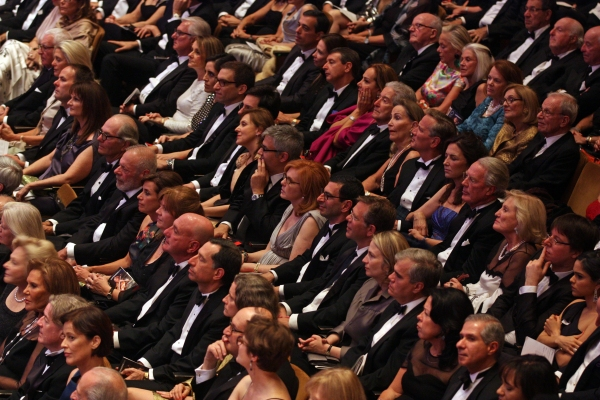 Classical music audience members at Avery Fisher Hall. (Photo by Hiroyuki Ito/Getty Images)
