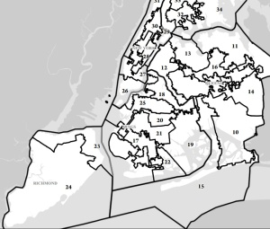 A city map of New York State Senate districts. (Photo: LATFOR)