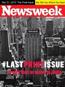 Newsweek last print issue cover