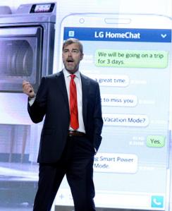Mr. VanderWaal presenting LG HomeChat (Getty)