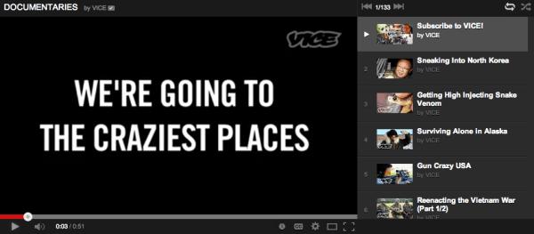 Vice documentaries