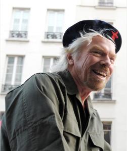 Richard Branson, wearing an interesting hat. (Getty)