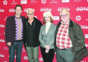 Director of Programming for the Sundance Film Festival Trevor Groth, John Slattery, Christina Hendricks and Philip Seymour Hoffman, from left. (Photo by Michael Loccisano/Getty Images for Sundance Film Festival)