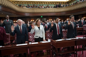Council Speaker Melissa Mark-Viverito getting sworn into office. (Photo: Official NYC Council Photo by William Alatriste)