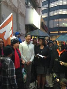 Tish James at the rally this morning. (Photo: Public Advocate's Office)