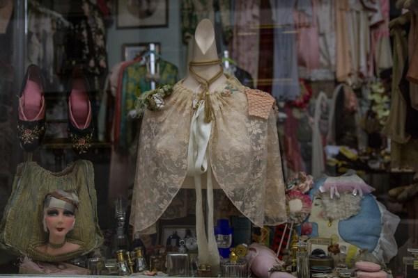 The storefront at Illsa's vintage lingerie. Photo by Arman Dzidzovic.