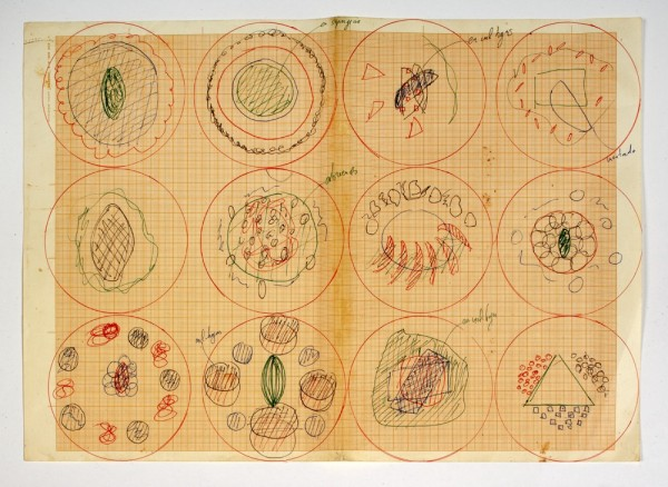 'Plating Diagram' (ca. 2000–04) by Adrià. (Courtesy the artist and the Drawing Center)