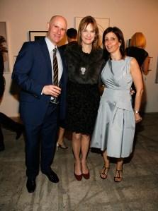Public Art Fund director Nicholas, Harris and PAF President Susan Freedman. (Courtesy Getty Images)