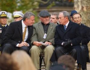 Mayor Bill de Blasio with his predecessor, Michael Bloomberg. (Photo: Getty)