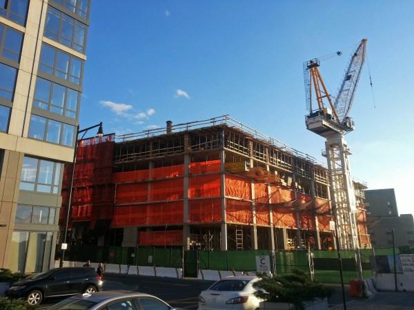 Work in progress at 40 Riverside Boulevard