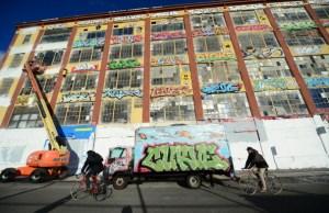 A different type of art: whitewashing happening at 5 Pointz last November