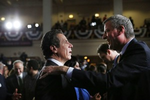 Gov. Andrew Cuomo and Mayor Bill de Blasio. (Photo: Spencer Platt/Getty Images)