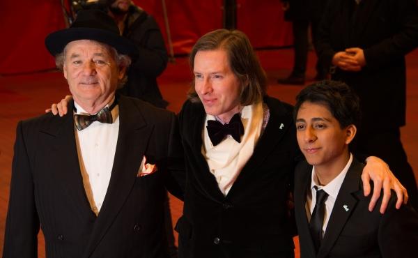 Bill Murray, Wes Anderson and Tony Revolori attend 'The Grand Budapest Hotel' Premiere and opening ceremony during the 64th Berlinale International Film Festival at Berlinale Palast on February 6. (Photo by Ian Gavan/Getty Images)
