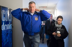 Bill de Blaiso at Office of Emergency Management headquarters at the end of last week. (Photo: Rob Bennett/NYC Mayor's Office)