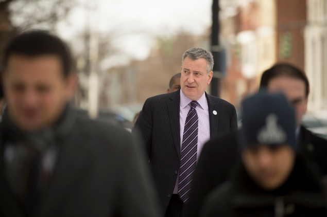 Bill de Blasio earlier this month. (Photo: Rob Bennett/NYC Mayor's Office)
