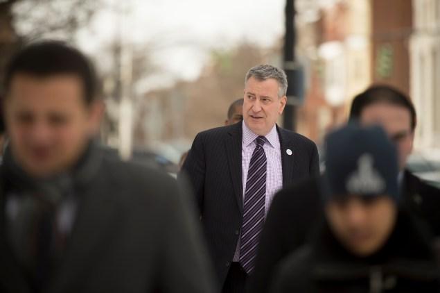 Bill de Blasio earlier this month. (Photo: Rob Bennett/NYC Mayor's Office)