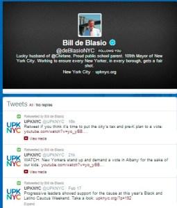 The @deBlasioNYC Twitter feed.
