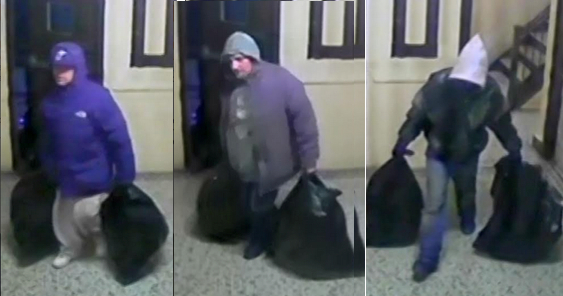 Three men robbed an apartment with a method normally reserved for cartoons. (Photo: NYPD)