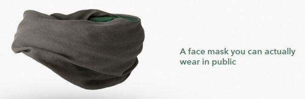 Yup. Looks like every other face mask we'd wear in public.