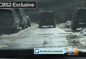A scene from CBS's report this evening. (screengrab)