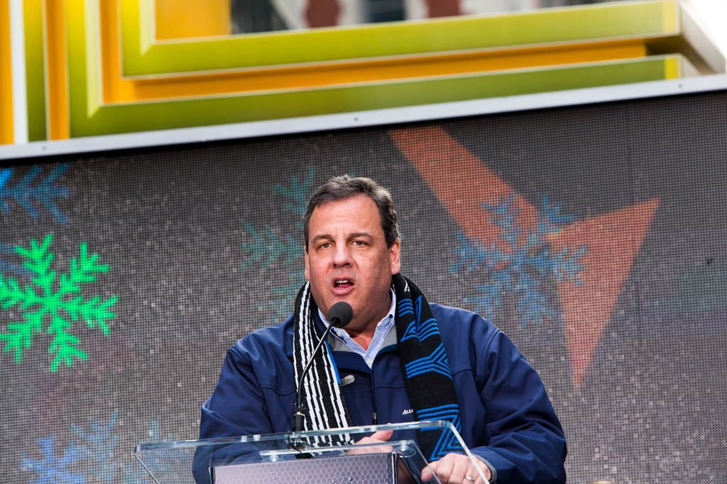 Chris Christie at today's ceremony. (Photo: Christopher Gregory/Getty)