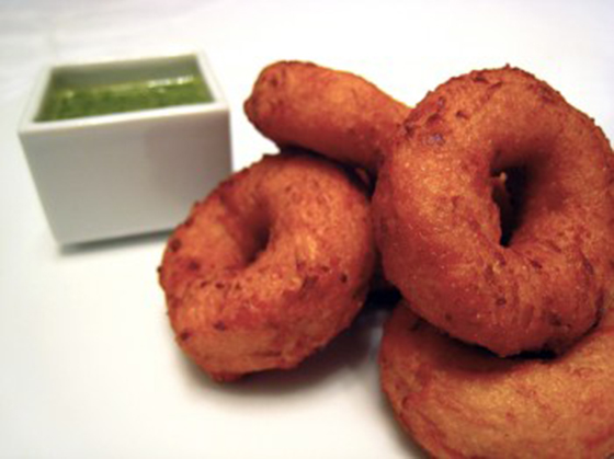 A favorite appetizer at Dirt Candy, the Kimchi Doughnuts (Photo by Dirt Candy).