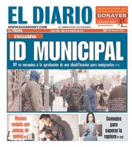 Today's El Diario la Prensa.