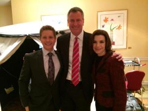 Bill de Blasio making his appearance on the Good Wife. (Photo: Twitter/@BilldeBlasio)