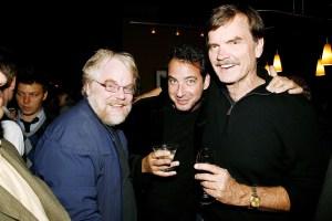 Philip Seymour Hoffman, David Bar Katz and George Liberatto in October, 2008 (Patrick McMullan(