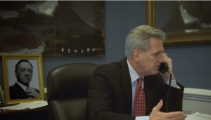 Rep. Kevin McCarthy playing Frank Underwood (NowThis)