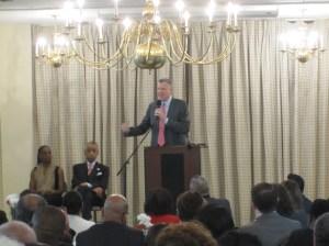Mayor Bill de Blasio speaking at Bethany Baptist Church this morning.