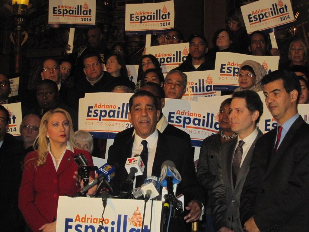 Adriano Espaillat's kickoff rally.
