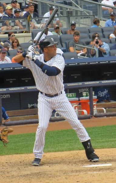 Derek Jeter, at bat. (Photo by Ken Kurson)