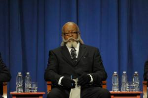 Jimmy McMillan at a gubernatorial debate four years ago. (Photo: Pool/Getty)