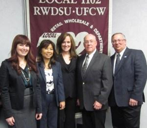 Nassau County District Attorney Kathleen Rice with RWDSU.