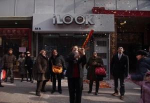 Speaker Melissa Mark-Viverito firing off some sparkles at a Lunar New Year celebration. (Photo: William Alatriste/NYC Council)